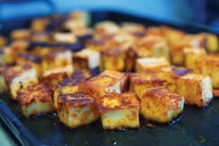 Adapted from Manjula's Kitchen  Recipe: Paneer Summary: Paneer is a homemade Indian cheese. Paneer is used many different ways making desserts, appetizers and main course dishes. Ingredients 8 cups (half gallon) milk 1/4 cup lemon Juice Instructions Mix lemon juice…