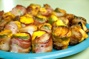 "Bacon + Cheese = Sinful Goodness. Some things just don't need to be ""fancied up"".  It's best to keep these babies basic! Recipe: Grilled Bacon-Wrapped Poppers Ingredients 20 large jalapeños 8 oz. Neufchâtel cheese (or 1/3 fat cream cheese) 10…"